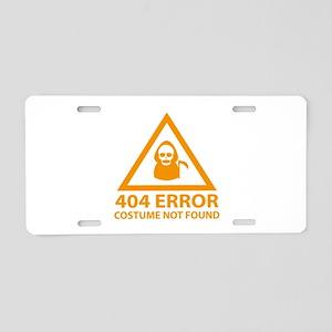 404 Error : Costume Not Found Aluminum License Pla