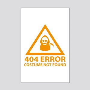 404 Error : Costume Not Found Mini Poster Print