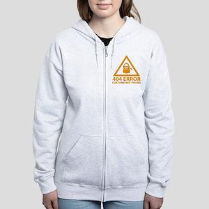 404 Error : Costume Not Found Women's Zip Hoodie