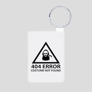 404 Error : Costume Not Found Aluminum Photo Keych