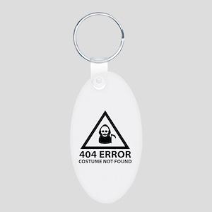 404 Error : Costume Not Found Aluminum Oval Keycha