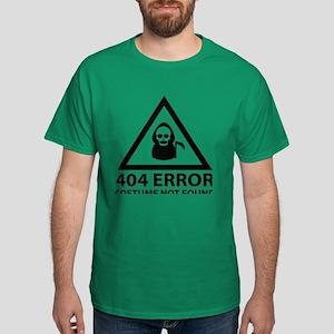 404 Error : Costume Not Found Dark T-Shirt