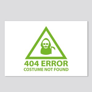 404 Error : Costume Not Found Postcards (Package o