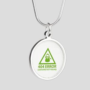 404 Error : Costume Not Found Silver Round Necklac