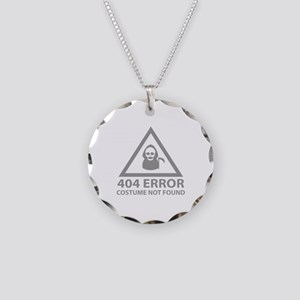 404 Error : Costume Not Found Necklace Circle Char