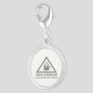 404 Error : Costume Not Found Silver Oval Charm