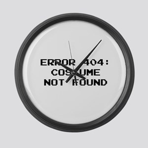404 Error : Costume Not Found Large Wall Clock