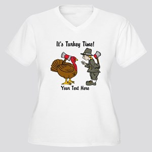 Funny Thanksgiving Women's Plus Size V-Neck T-Shir