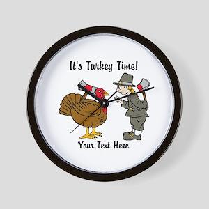 Funny Thanksgiving Wall Clock