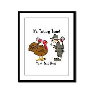 Funny Thanksgiving Framed Panel Print
