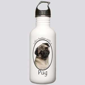 Lifes Better Pug Stainless Water Bottle 1.0L