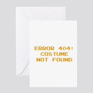 404 Error : Costume Not Found Greeting Card