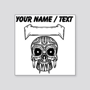 Custom Day Of The Dead Skull Sticker