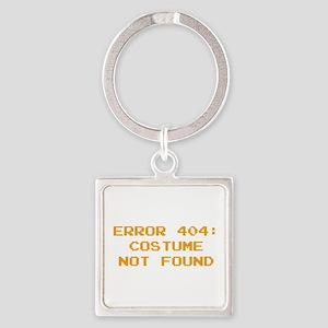 404 Error : Costume Not Found Square Keychain