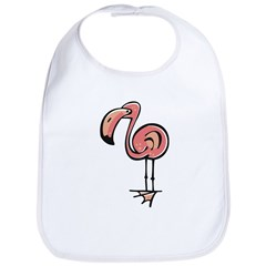 Cute Cartoon Flamingo Bib