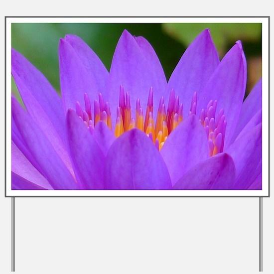 Lotus Flower Yard Sign