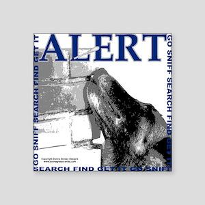 "Belgian Malinois Alert Nose Square Sticker 3"" x 3"""