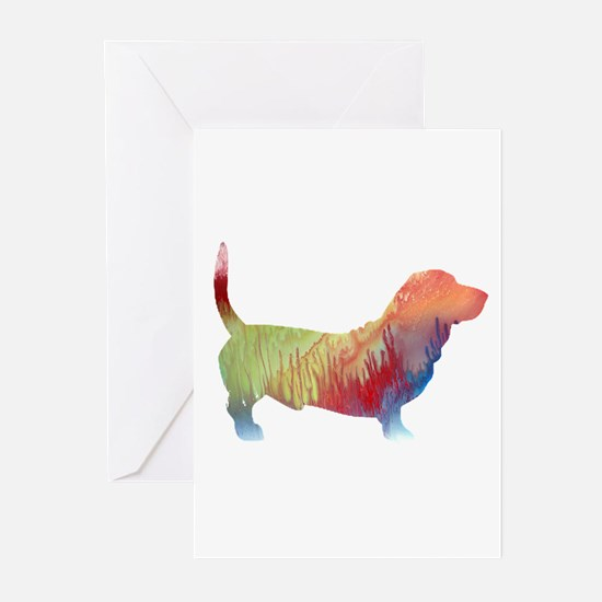 Basset hound Greeting Cards