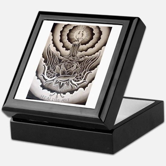 Healing Art Candle Keepsake Box