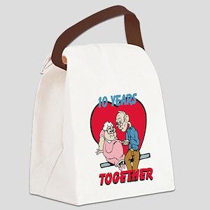 Custom Funny Anniversary Canvas Lunch Bag