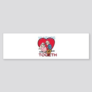 Custom Funny Anniversary Sticker (Bumper)