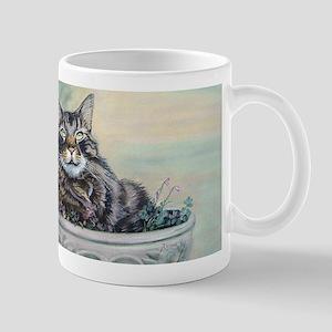 Rambo Maine Coon cat mug, right hand mug