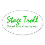 Stage Troll Oval Sticker