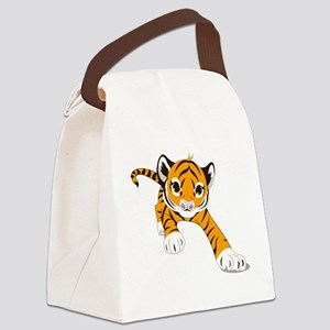 Little Prowling Tiger Cub Canvas Lunch Bag