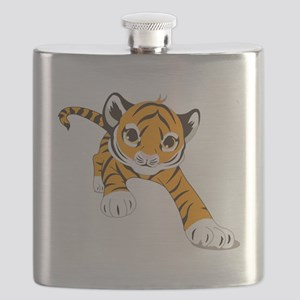Little Prowling Tiger Cub Flask