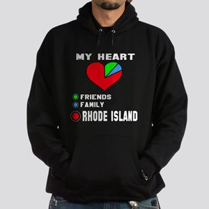 My Heart Friends, Family Rhode Islan Hoodie (dark)