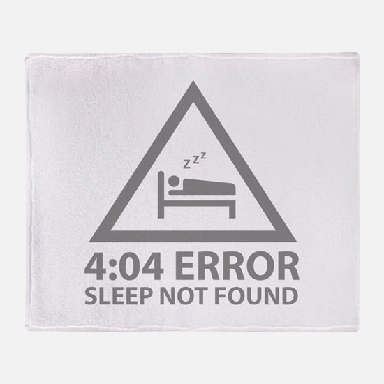 4:04 Error Sleep Not Found Stadium Blanket