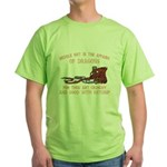 Meddle not with Dragons Green T-Shirt
