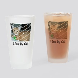 CUSTOMIZE Add Photo Love Cat Drinking Glass