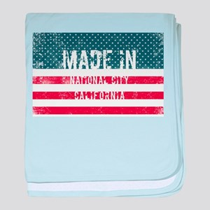 Made in National City, California baby blanket
