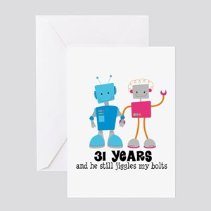 31st Wedding Anniversary Greeting Cards Cafepress