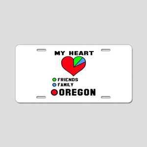 My Heart Friends, Family Or Aluminum License Plate