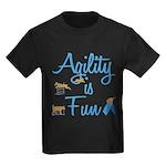 Agility is Fun Kids Dark T-Shirt