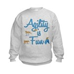 Agility is Fun Kids Sweatshirt