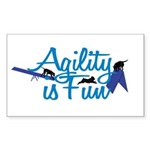 Agility is Fun Rectangle Sticker