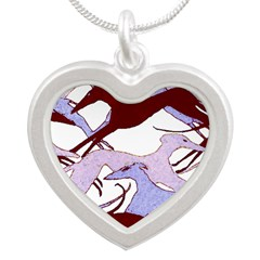 Valentine Hounds Silver Heart Necklace