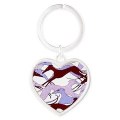 Valentine Hounds Heart Keychain