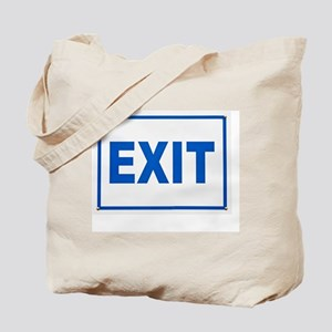 Exit sign Tote Bag