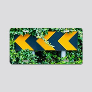 Attention road sign  Aluminum License Plate