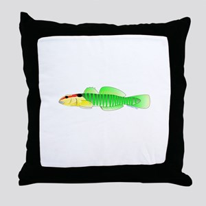 Greenbanded Goby Throw Pillow