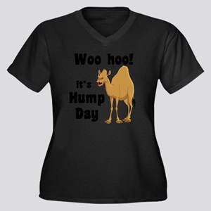 Hump Day Women's Plus Size V-Neck Dark T-Shirt