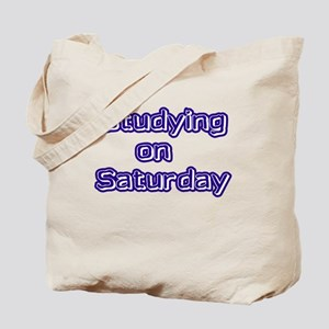Studying on Saturday Tote Bag