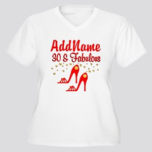 30TH STILETTO Women's Plus Size V-Neck T-Shirt