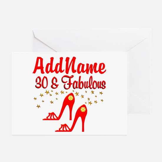 30TH STILETTO Greeting Cards (Pk of 10)