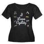 I Love Agility 2 Women's Plus Size Scoop Neck Dark