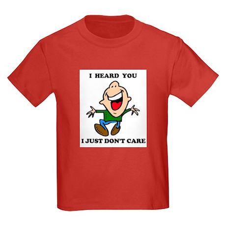 DON'T CARE Kids Dark T-Shirt